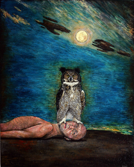 Nocturnal Awakening oil on canvas enlarged